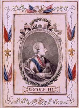 Ercole III° d'Este - ritratto conservato al museo del tricolore di Reggio Emilia.