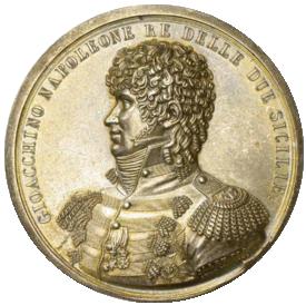 Murat in un medaglione del 1808 commemorativo della presa di Capri (riconio postumo).