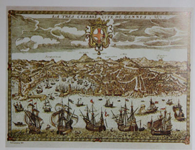 Genova nel 1571 da una stampa francese