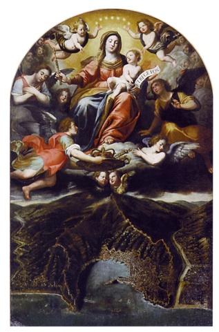 La Vergine Regina di Genova di D. Fiasella