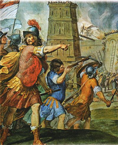 Assalto a una città. Ciclo di affreschi del Palazzo Ducale a Genova