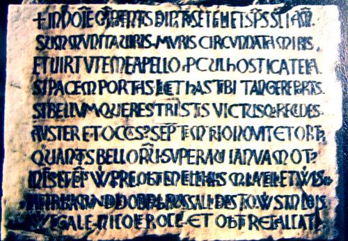 Lapide del 1155 a Porta Soprana