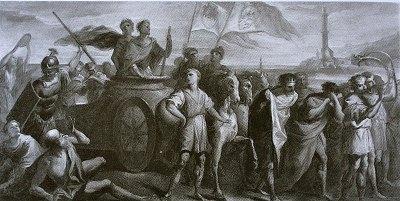 Jacopo Lusignano è condotto prigioniero in corteo dal Doge