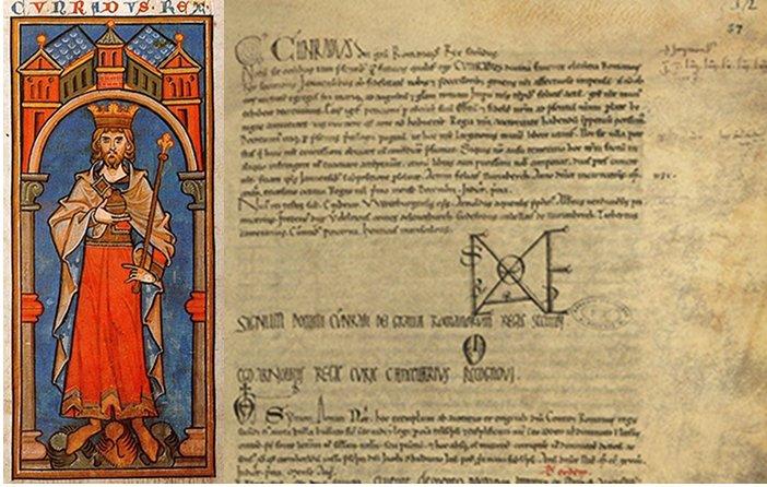 Copia autentica del Diploma di Corrado II del 1138 eseguita nel 1229. Per gentile concessione dell'Archivio di Stato di Genova