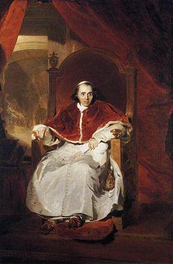 Ritratto di Papa Pio VII nel 1819