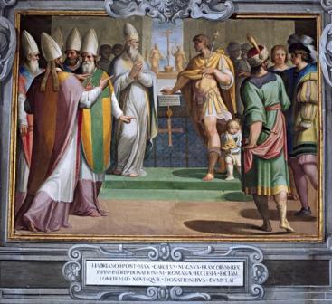 Adriano I e Carlo Magno