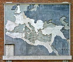 L'antico Impero Romano nella sua massima espansione