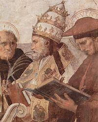 Giulio II in una raffigurazione di Raffaello