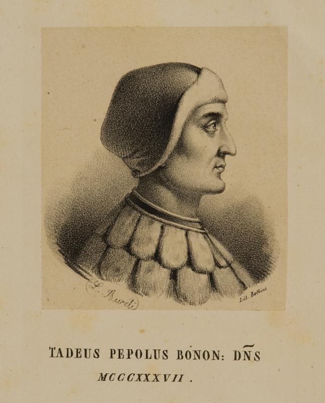 Ritratto di Taddeo Pepoli. (Collezione privata Rosati Pepoli)