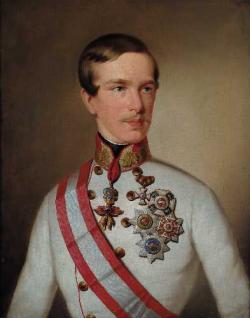 Francesco Giuseppe in un ritratto del 1850