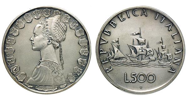 500 lire Opus: Giampaoli 79 mm. Cu-Ni