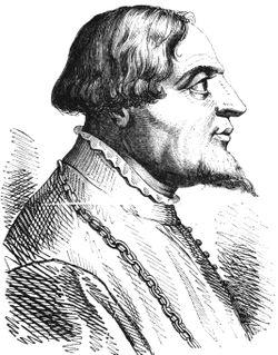 Gian Galeazzo Visconti in un'incisione (foto da Wikipedia)