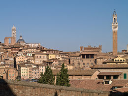 Siena: veduta della città