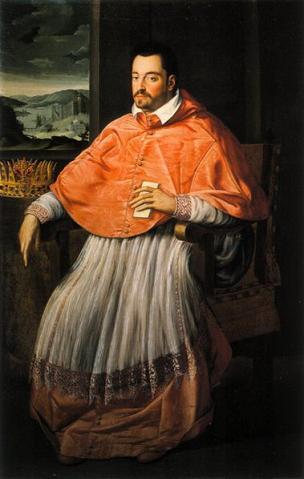 ritratto di un giovane Ferdinando I in abiti cardinalizi (Granduca di Toscana 1587-1609)