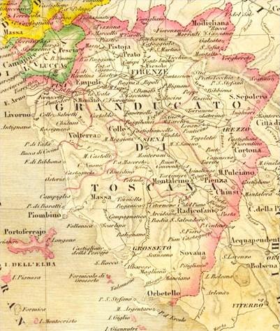 mappa Granducato di Toscana