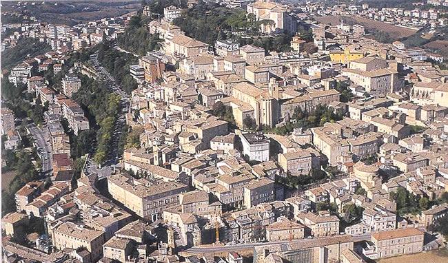 Fermo - Veduta aerea del centro storico