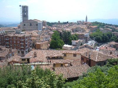 Veduta della città di Perugia