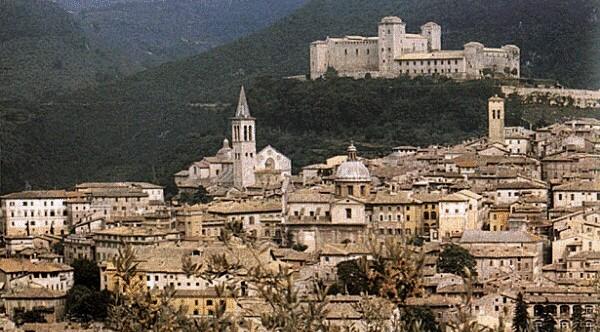 Veduta del centro storico di Spoleto (PG)
