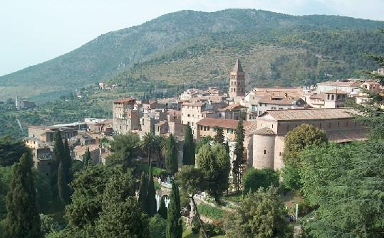 Veduta del centro storico di Tivoli (RM)