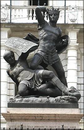Monumento dedicato ad Amedeo VI sito in piazza Palazzo di Città a Torino.