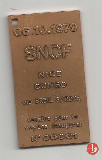 Cuneo - FS Biglietto Speciale 1979