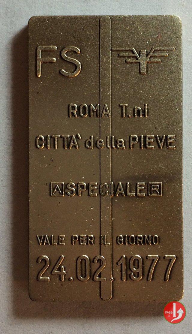 Roma - FS Biglietto Speciale 1977