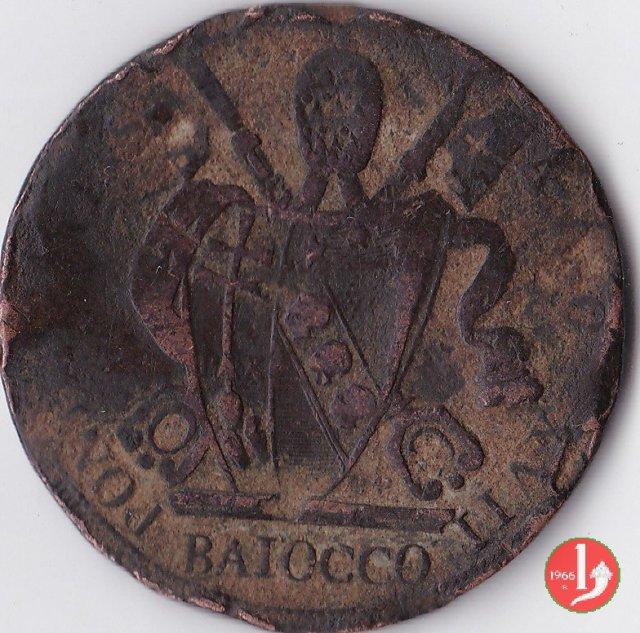 Baiocco del 6° tipo 1816 (Roma)