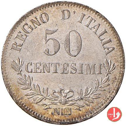 50 centesimi valore 1863 (Napoli)