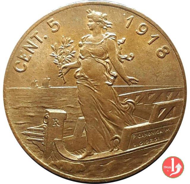 5 centesimi prora 1918 (Roma)