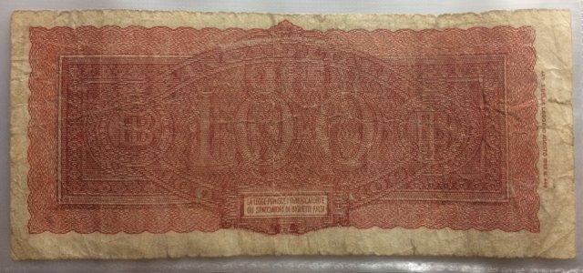100 Lire Italia Turitta 1944