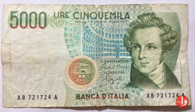 5.000 lire Bellini 1988