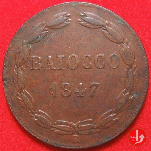 Immagine di una moneta da 1 baiocco 1847 (Roma)