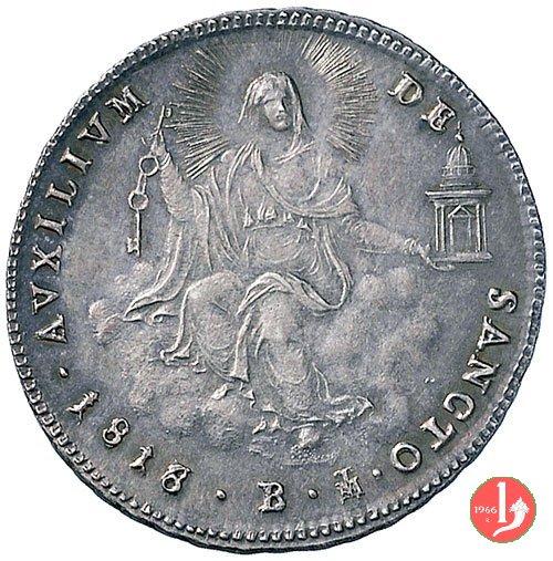 Doppio Giulio (Quinto di Scudo) 1818 (Bologna)