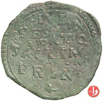 Quattrino o bagattino con scritta e stemma  (Pomponesco)