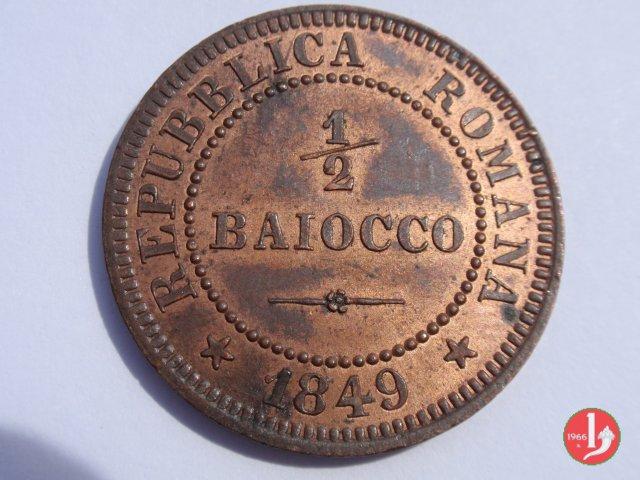 Mezzo Baiocco 1849 (Roma)