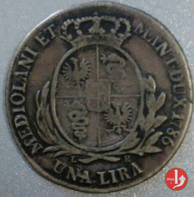 1 lira 1786 (Milano)