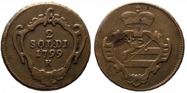 2 soldi 1799 (Kremnitz)