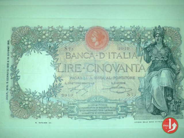 50 lire Buoi 1916