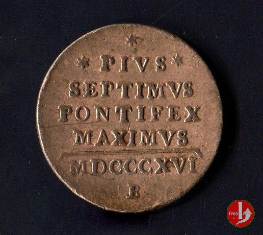 Mezzo Baiocco del 4° tipo 1816 (Bologna)