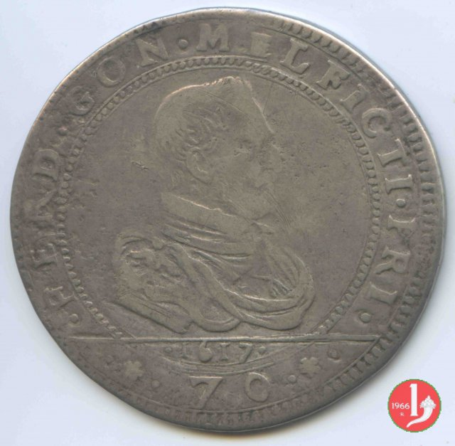 Mezzo scudo da 70 soldi 1617 (Guastalla)