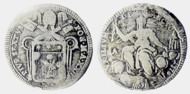 mezzo scudo romano 1799 (Ancona)
