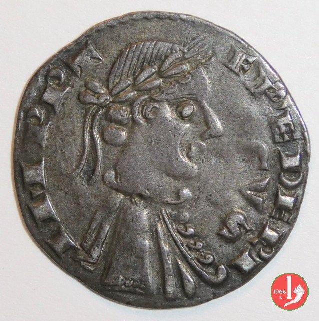Grosso da quattro denari imperiali, con tetto a cinque spioventi 1236-1250 (Bergamo)