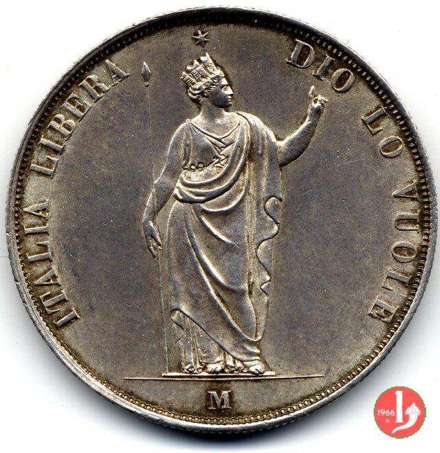 5 lire italiane 1848 (Milano)