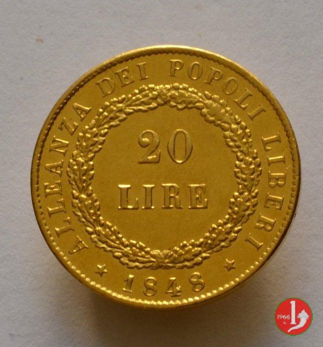 20 lire 11 agosto 1848 1848 (Venezia)