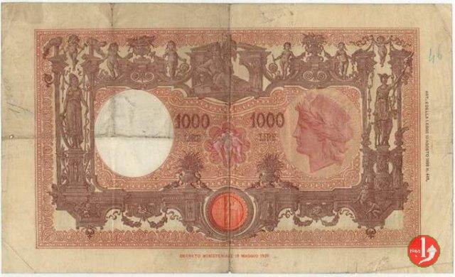 """1000 Lire Barbetti """"Grande M"""" 1928"""