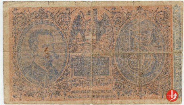 5 Lire Umberto I 1889