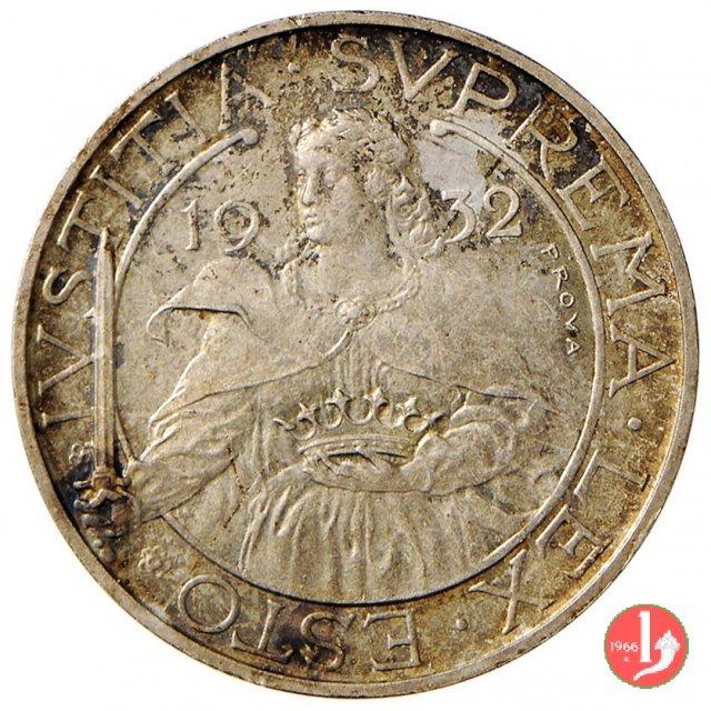 Prova 10 lire 2° tipo 1932 (Roma)