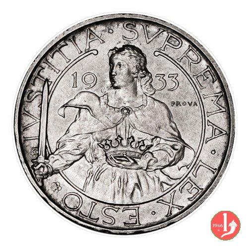 Prova 10 lire 2° tipo 1933 (Roma)