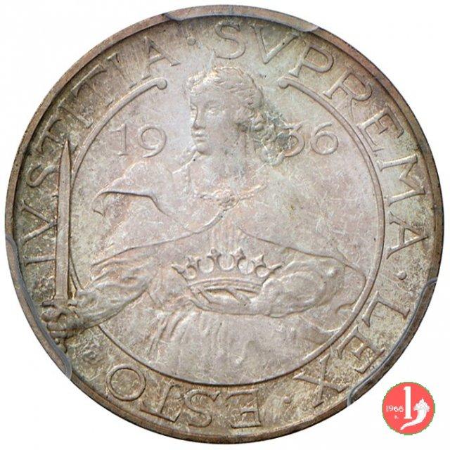 Prova 10 lire 2° tipo 1936 (Roma)