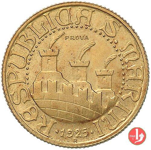 Prova 20 lire 1925 1925 (Roma)